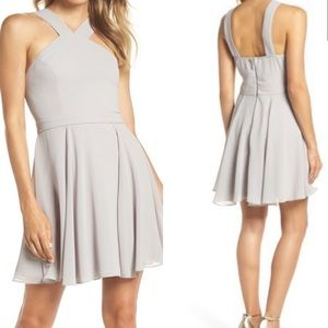 Lulu's forever more skater dress in gray